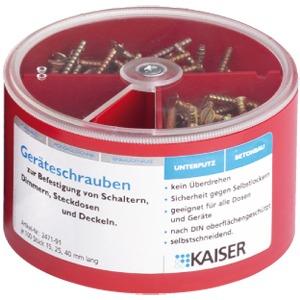 Schrauben-Box je 100 Schrauben mit 3 unterschiedlichen Längen 15/25/40mm.