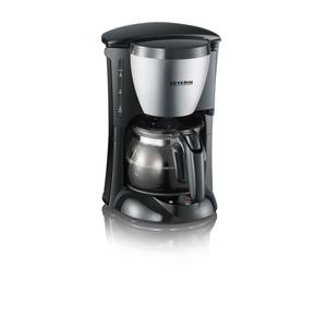 Kaffeeautomat, 4 Tassen, Edelstahl-geb.-schwarz