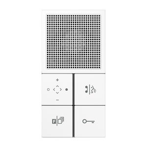 TK IS LS 914 WW, TKM Innenstation Audio Komfort, Tastensatz, mit Rahmen kombinierbar