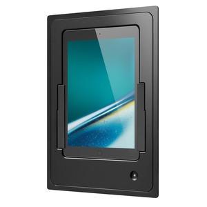 iDock Portrait/schwarz/110-230V/Blende Aluminium schwarz eloxiert für iPad Air