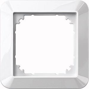 1-M-Rahmen, 1fach, polarweiß glänzend
