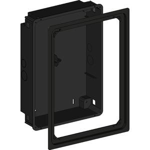 Unterputzdose flush mounted Hochformat/Aluminiumrahmen schwarz eloxiert für iPad2-4&Air