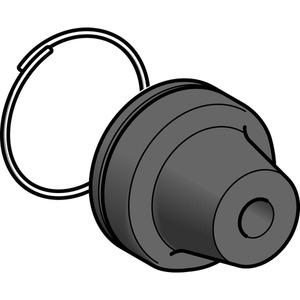 Schutzkappe m. Befest.ring, f. Drucktast. m. Schutzkap., Polypropylen, 16mm