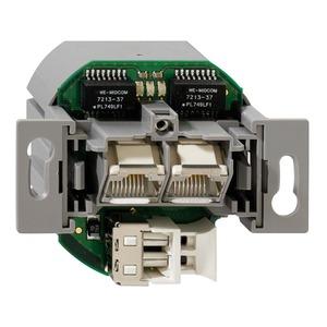 POF/UAE 2xUp rw 2,2 mm, Up-Medienkonverter, 2-fach (2 x UAE/1 x POF), für Anwendungen bis 100 Mbit/s, für POF-SI-Kabel Einzeladerdurchmesser 2,2 mm , reinweiß (ähnlich RAL 90
