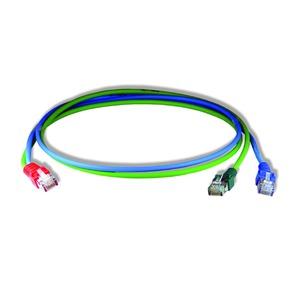 Y-Patchkabel2 ISDN/LAN gn/bl 0,5m