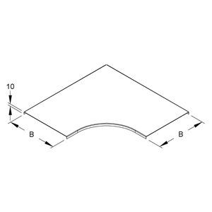 RESD 100, Deckel für Bogen 90° für KR, Breite 104 mm, Stahl, bandverzinkt DIN EN 10346
