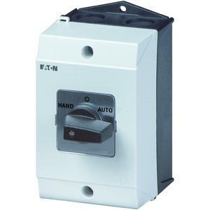 T3-4-8902/I2, Umschalter, Kontakte: 8, 32 A, Frontschild: Netz-0-Notstrom, 45 °, rastend, Aufbau