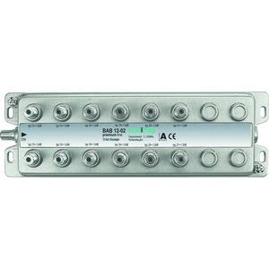 Abzweiger, 12-fach, 13-21 dB, 5-1006 MHz, F-Stecker, doppelt geschirmtes Gehäuse