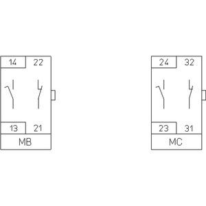 MBH4-11A01 Hilfskontaktmodul MB 16A, Hilfskontaktmodul MB MBH4-11A01In=16A
