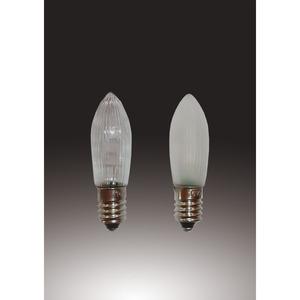 LED-Riffelkerze 16V/0,1W klar LED ww 3er-Blister