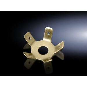 DK 7548.210, Sternpunkt für 6,3 mm Flachstecker, zum Potentialausgleich an 8 mm Erdungsbolzen, Preis per VPE, VPE = 10 Stück