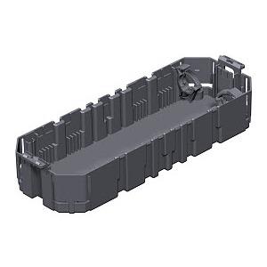 GB3, Gerätebecher für 3 Installationsgeräte EK 208x76x39, PA, graphitschwarz, RAL 9011