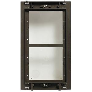 Modulträger für 2 Module, Montage senkrecht, Al-Guß, Modulträger: 139 x 235 mm, UP-Kasten: 117 x 214 x 45 mm