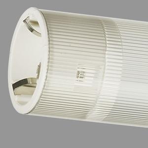 Lampenschutzrohr, PC (bruchsicher) glasklar, innengerippt, 36W