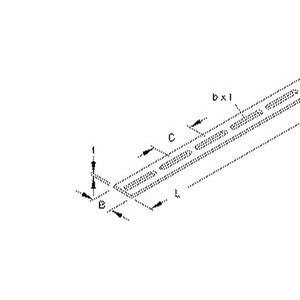 S 40 X 5/3, Schlitzbandeisen, Breite 40 mm, t=5,0 mm, Länge 3000 mm, Stahl, feuerverzinkt DIN EN ISO 1461