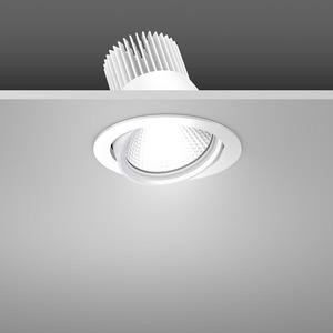 Einbaustrahler LED/39,2W-3100K D157, H142, engstr., 3450 lm