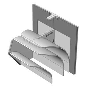 ELS-ARS, ELS-ARS, Umbauset für Ausblas rück- seitig, zu ELS-GU/-GUBA. Umlenkstück und Nieten