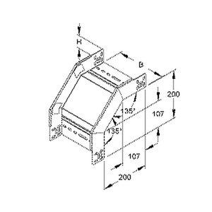 RFD 60.100, Fallstück für KR, 60x102 mm, mit unglochten Seitenholmen, Stahl, bandverzinkt DIN EN 10346, inkl. Zubehör