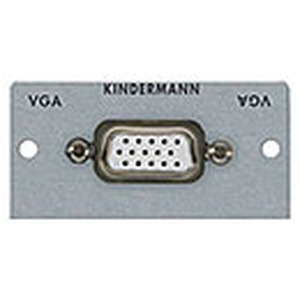Anschlussblende mit Kabelpeitsche, VGA (HD15), Halbblende, Aluminium eloxiert