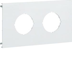 Blende 2-fach d=45mm PVC BR OT 100 cweiß