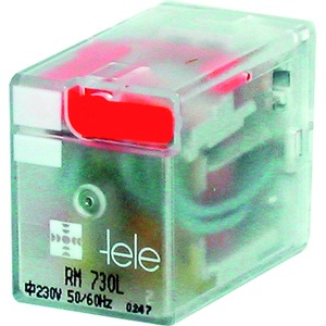 RM 024LD-N, Miniaturrelais, 24VDC, 4 Wechsler, LED, Freilaufdiode