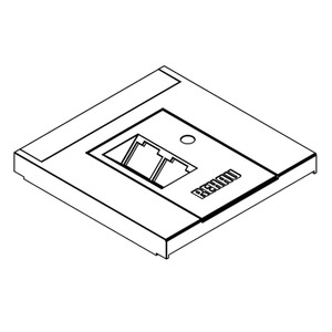 Datenblende2cws, Brüstungskanal SIGNA Blende Dateneinbau 2 Anschlüsse RAL9001