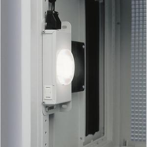 Innenleuchte 0,5 HE, 6 Watt (LED),grau,mit Schalter und 3m Anschlußkabel (Aderendhülse),zum direkten Einbau in 19-Zoll Ebene oder Magnet-befestigun