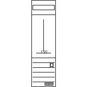 ZSD-T16A0561, Zählerfeld, 1-feldrig, vorbereitet, Version T16A0561