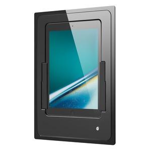 iDock Portrait/black/110-230V/Blende Glas schwarz für iPad Air
