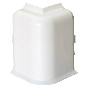 Sockelleistenkanal mit Teppichkante Ausseneck 50/70x20 cremeweiss RAL9001