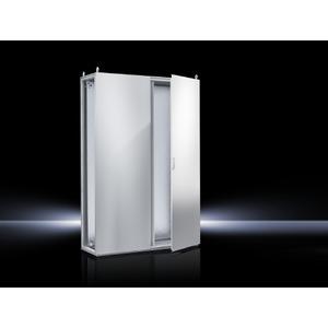 TS 8206.500, Topschrank-System lackiert zweitürig, mit Montageplatte, RAL 7035, TS 8206500