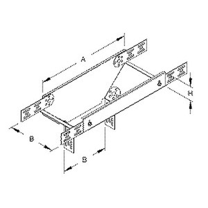 RTL 60.100, Abgangstrichter für KR, längs, 60x100 mm, Stahl, bandverzinkt DIN EN 10346, inkl. Zubehör