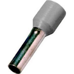 Aderendhülsen isoliert, 4,0 mm², grau, Länge 10 mm, DIN 46228 T4