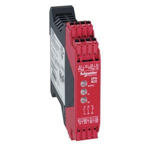 Sicherheitsbaustein Zweihandsteuerung Typ IIIC, 2 S, 1 Ö, 24 VAC/DC, Feder
