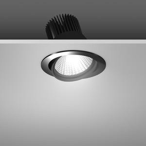 Einbaustrahler LED/39,2W-3000K D157, H142, dim.DALI, 4350 lm