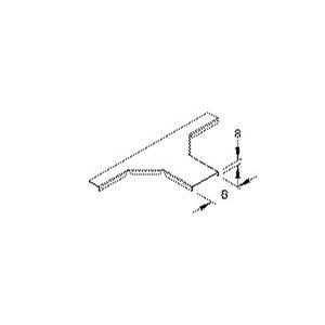RTAKD 100, Deckel für Anbau T-Stück für Mini-Kabelrinne, Breite 104 mm, Stahl, bandverzinkt DIN EN 10346