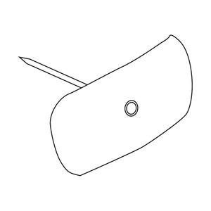 790/2.5/70, Nagelscheibe, mit Nagel Ø 2,5 mm, Nagellänge 70 mm, Kabel-Ø 4-16 mm, Kunststoff PP, RAL 7035, lichtgrau