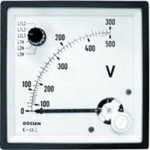 Spannungsmesser mit Umschalter Typ EQB 96/U6 Bereich 500V, Skala 300V/500V