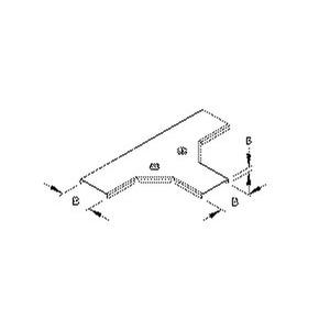 RTSKDV 50, Deckel für T-Stück für Mini-Kabelrinne, Breite 54 mm, mit Drehriegel, Stahl, bandverzinkt DIN EN 10346
