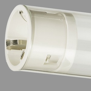 Lampenschutzrohr, PC (bruchsicher) glasklar, 18W