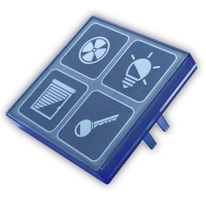 LCN - MT4B, Mechanischer Taster 4-fach mit Beleuchtung – Status LED`s, rauchtopas