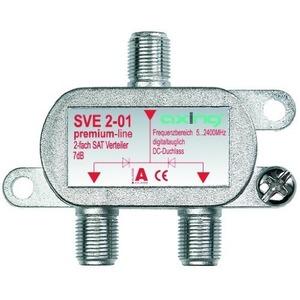 SAT-Verteiler 2-fach, 5-2200 MHz, F-Stecker, Montagesockel