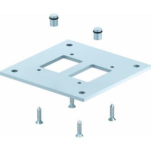 ISS160160BP, Bodenplatte für Industriesäule 250x250x8mm, St, weißaluminium, RAL 9006