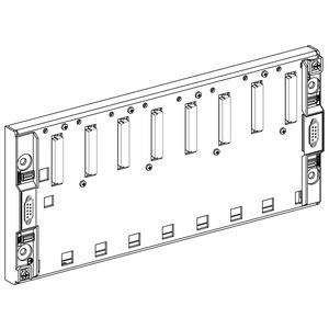 Modulträger, erweiterbar, f. Multirack-Konfiguration, 8 Steckpl., IP20