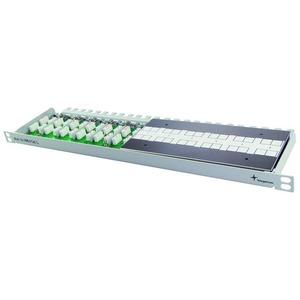 19 1/2 HE Multi-Verbindungsmodul Cat.7A(IEC) lichtgrau RAL 7035