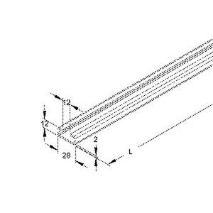 niedax 4013339035304 2916 6 bo ankerschiene c profil schlitzweite 12 mm 28x12x6000 mm. Black Bedroom Furniture Sets. Home Design Ideas
