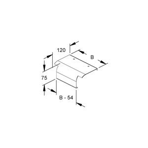 KLAB 300 E3, Endabgangsblech für KL, Breite 300 mm, Edelstahl, Werkstoff-Nr.: 1.4301, 1.4303, mit vorm. Zubehör