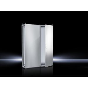 TS 8285.500, Topschrank-System lackiert zweitürig, mit Montageplatte, RAL 7035, TS 8285500