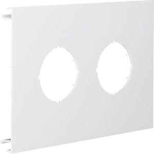 Blende 2-fach d=45mm PVC BR OT 120 cweiß