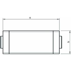 WDK HK60210RW, T- und Kreuzstückhaube 60x210mm, PVC, reinweiß, RAL 9010